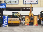 Some of the XCMG machinery exhibition on the outdoor exhibition site